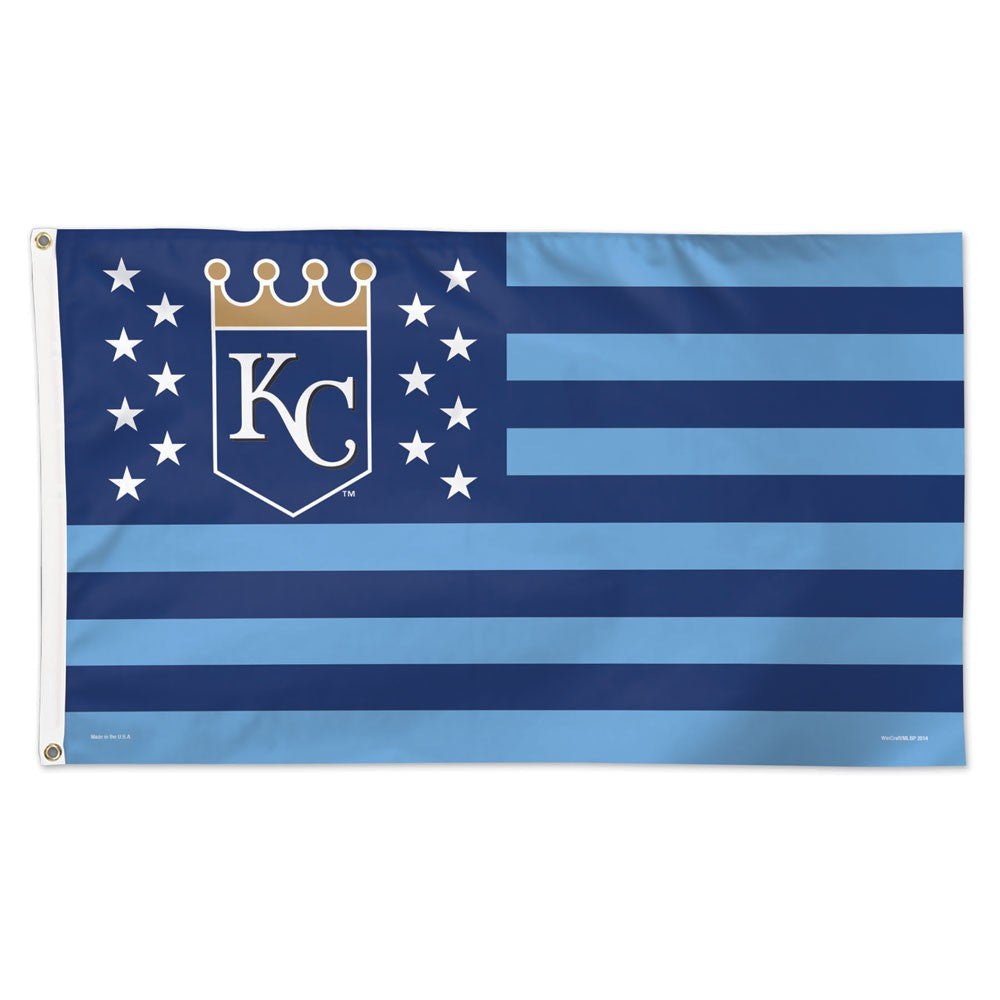 Kansas City Royals / Stars and Stripes Flag - Deluxe 3