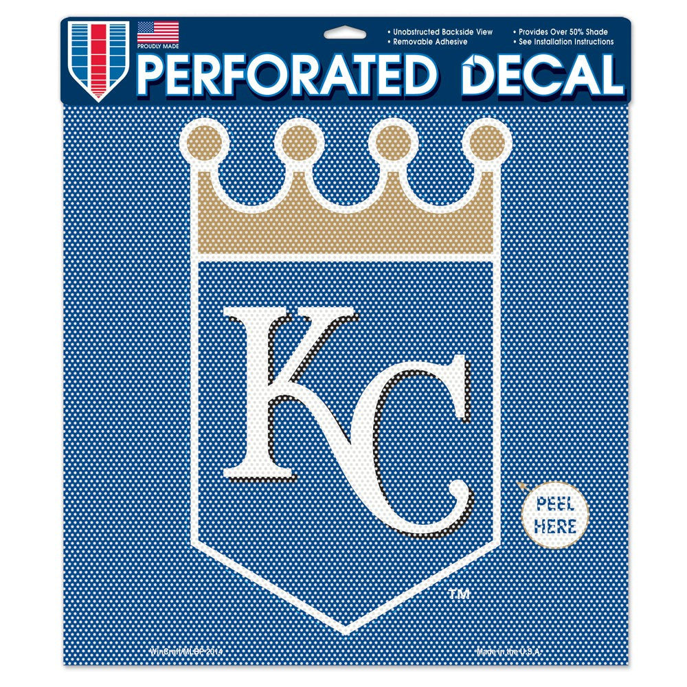 "Kansas City Royals Perforated Vinyl Decal 17"" x 17"""