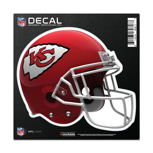 "Kansas City Chiefs Helmet Decal 6""x6"""