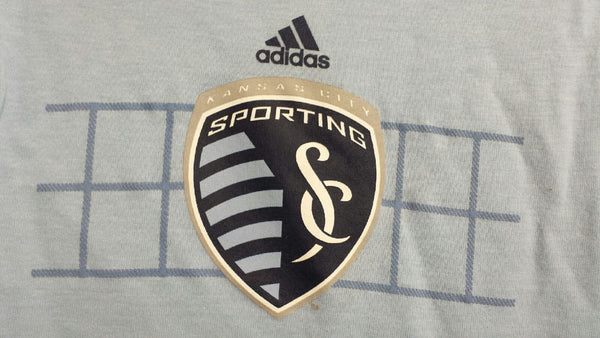 Sporting Kansas City Ladies V Neck Tri Blend Jersey Hook Tee by adidas