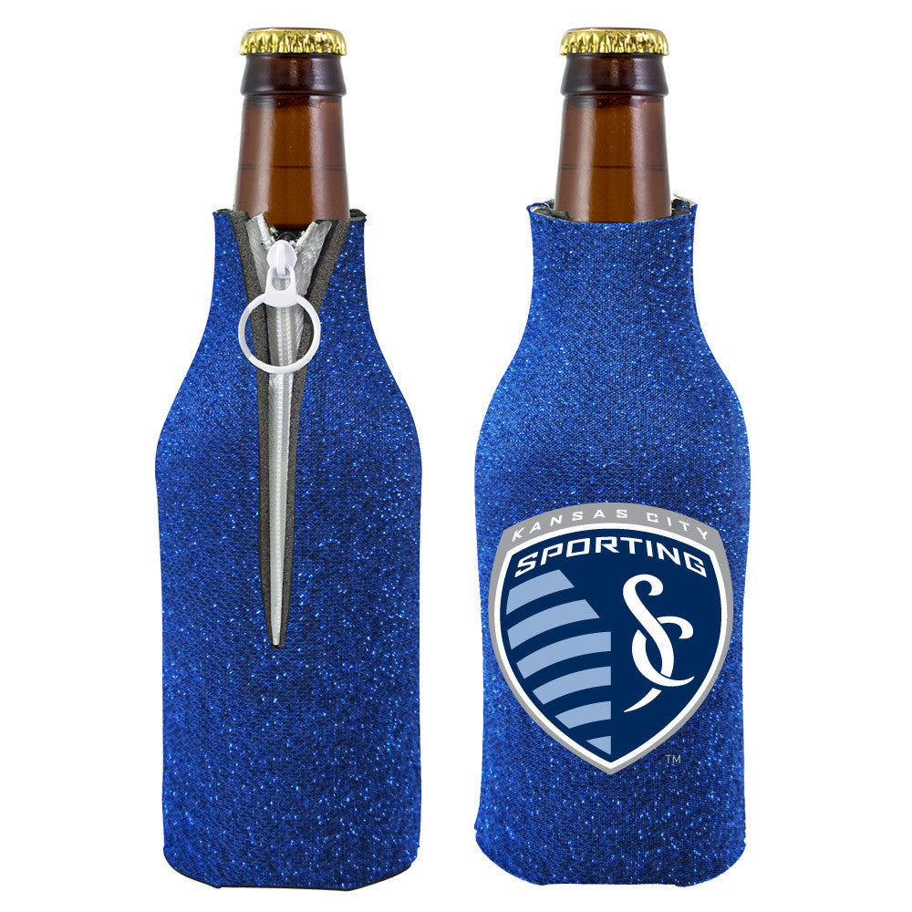 Sporting KC Neoprene Glitter Bottle Coozi