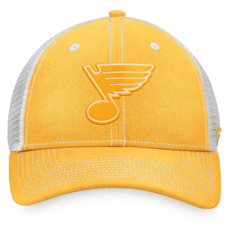 St. Louis Blues Yellow Sport Resort Mesh Back Trucker Snapback Hat - Fanatics