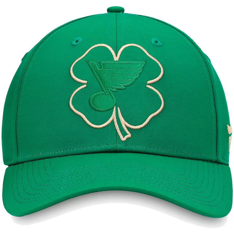 St. Louis Blues St. Patrick's Day Snapback Hat - Kelly Green - Fanatics