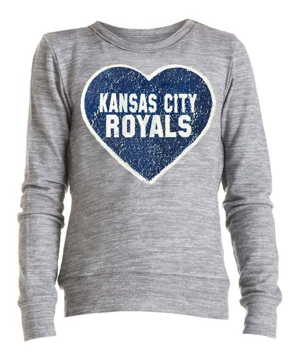 Kansas City Royals Girls Tri Blend T-Shirt by New Era