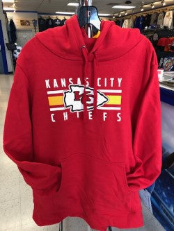 Kansas City Chiefs 2019 Women's Stacked Stripe Hooded Sweatshirt by Majestic