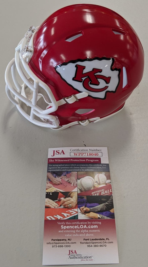 Kansas City Chiefs Darrel Williams Signed Autographed Chiefs Speed Mini Helmet J
