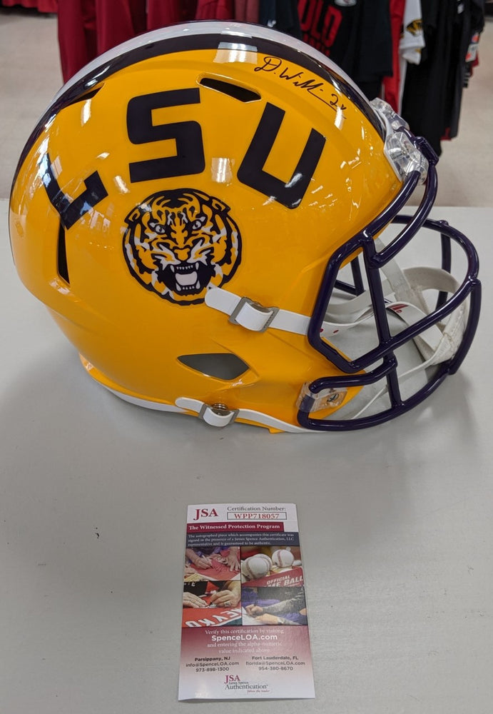 Kansas City Chiefs Darrel Williams Signed Autographed Full Size LSU Replica Helm