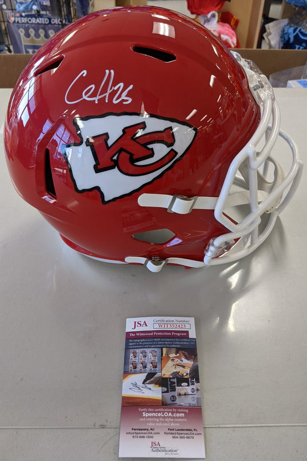 Kansas City Chiefs Clyde Edwards Helaire Signed Full Speed Replica Helmet - JSA