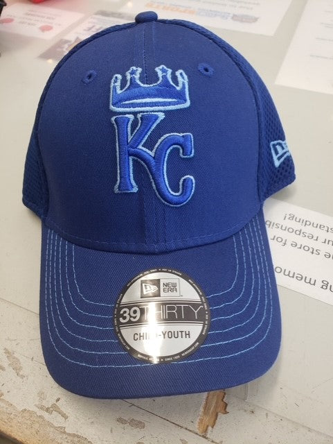 Kansas City Royals 2021 JR 39THIRTY Blue on Blue Hat by New Era