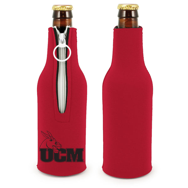University of Central Missouri Zipper Bottle Coozi