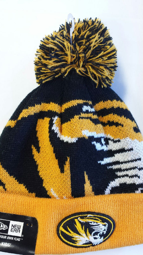 Missouri Tigers Toddler Cuffed Pom Woven Biggie Knit by New Era