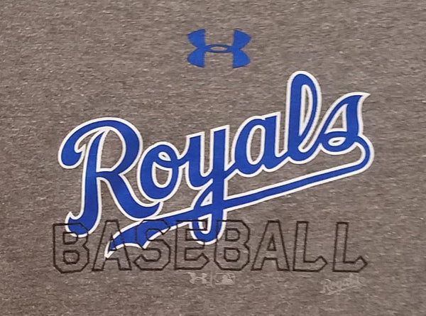 Kansas City Royals Gray Youth Dual Blend T-Shirt by Under Armour