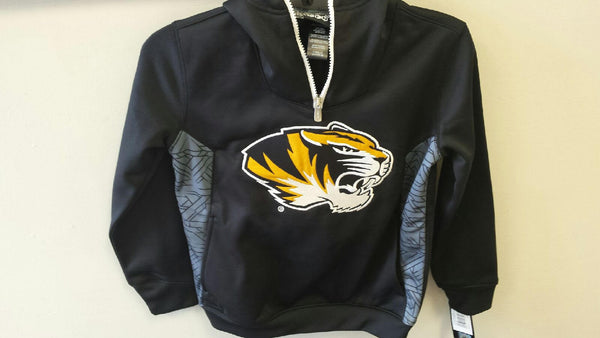 Missouri Tigers Youth Boys 1/4 Zip Hooded Sweatshirt by Gen2