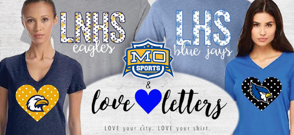 Slide 5 Alt TLove Letters T-shirts for LHS & LNHSext