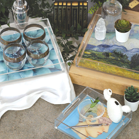 Lucite Trays
