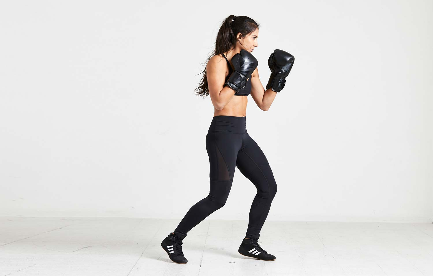 Boxer with Bia Boxing Gloves - Black / Black