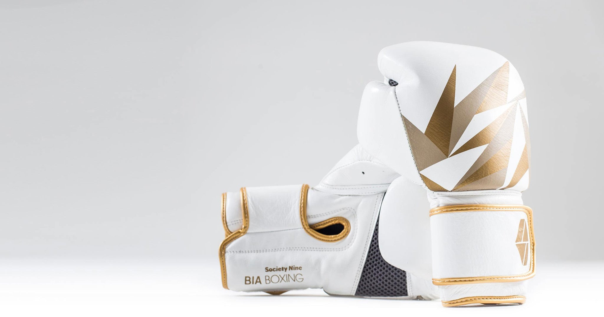 Bia Boxing Gloves - White/Gold