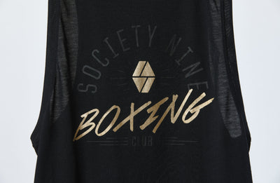 Society Nine Boxing Club Graphic Tank in Black/Gold - (Orig. $45)