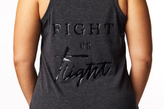 """Fight or Flight"" Tank in Heathered Black"