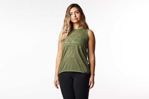 """Empower Each Other"" Tank in Olive Green"