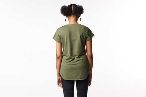 Sisterhood Tee in Olive Green