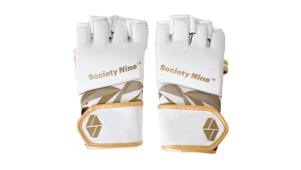 Bia MMA Glove in White/Gold