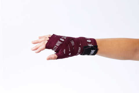Society Nine Logo Hand Wraps - 180in (Available in 3 Colors)