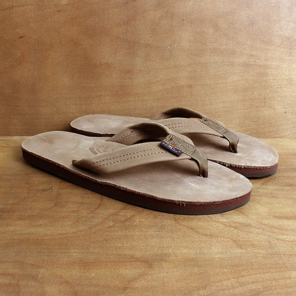RAINBOW MENS SINGLE LAYER SANDALS