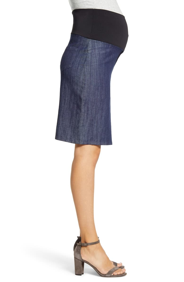 A-Line Chambray Skirt