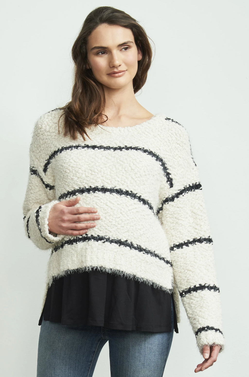 HI LOW LAYERED SWEATER