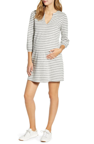 Bubble Sleeve Shift Dress