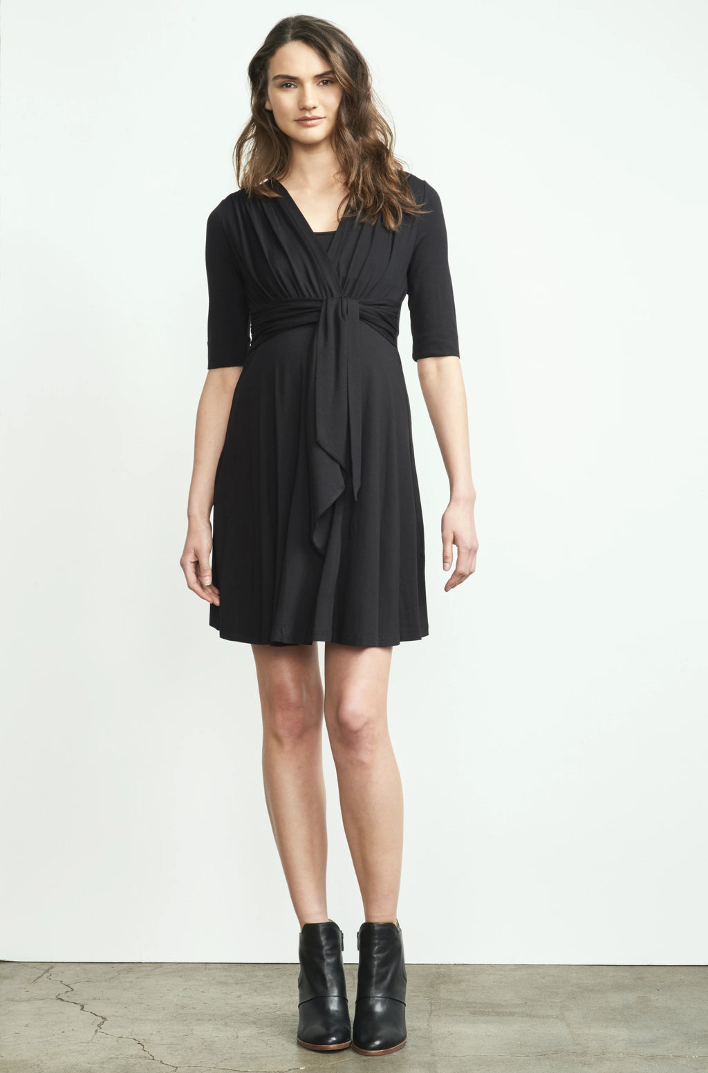 Mini Front Tie Nursing Dress