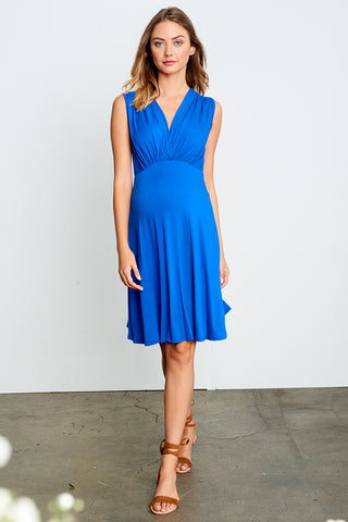 Ruched Nursing Dress