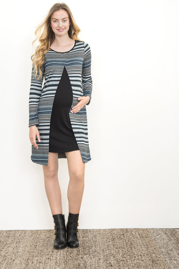 OVERLAY SWEATER MATERNITY/NURSING DRESS