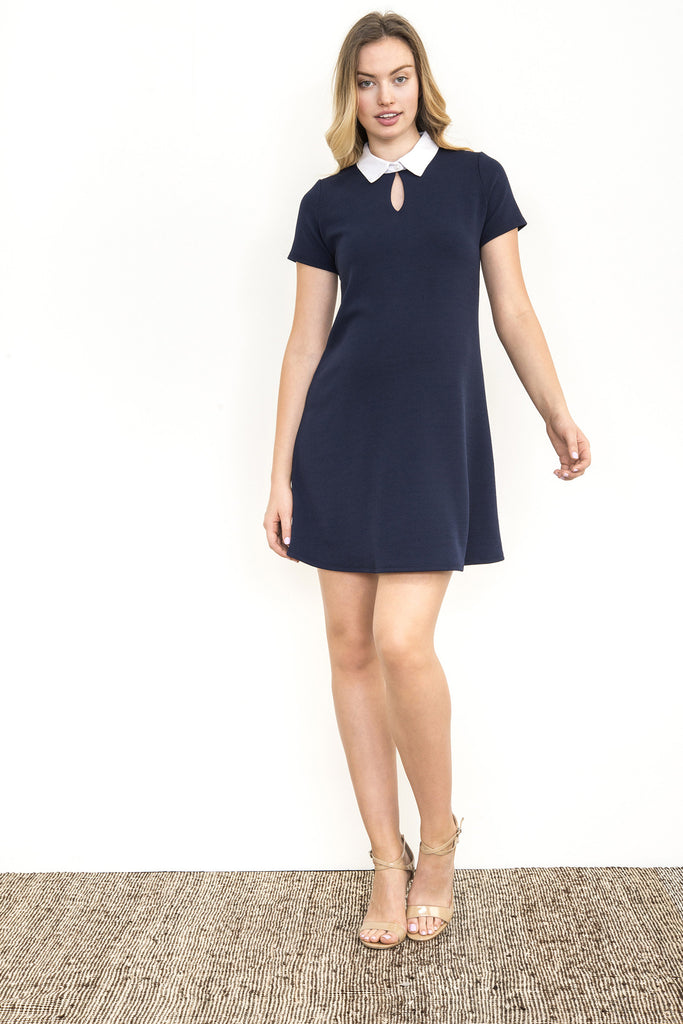 KEYHOLE COLLAR DRESS