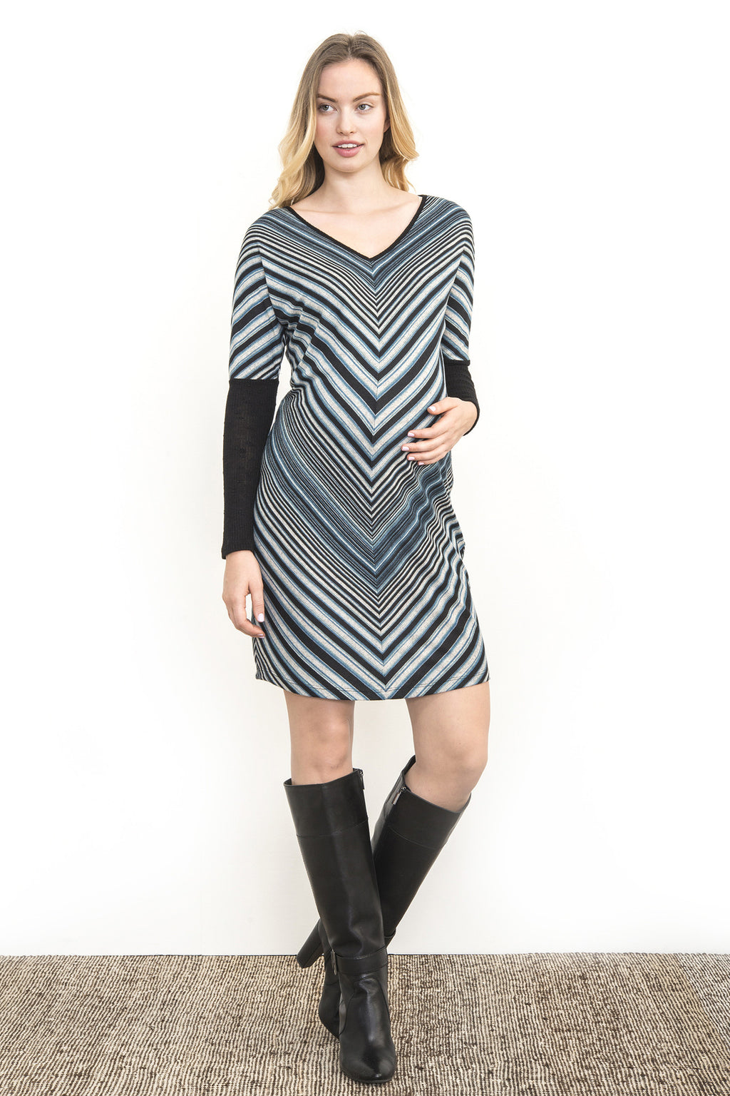Bias Stripes Dress