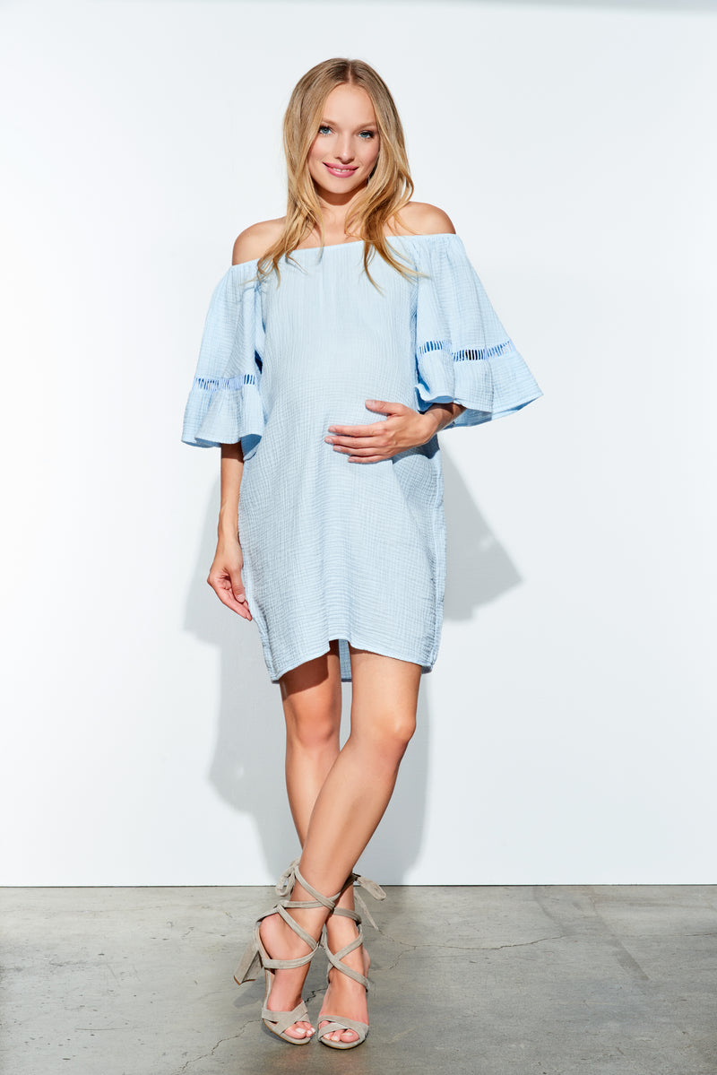 Bell Sleeves Off Shoulder Dress