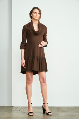 Short Sleeve Ruched Nursing Dress