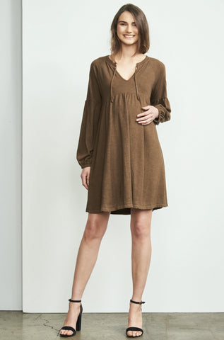 Ruffle Overlay Nursing Dress