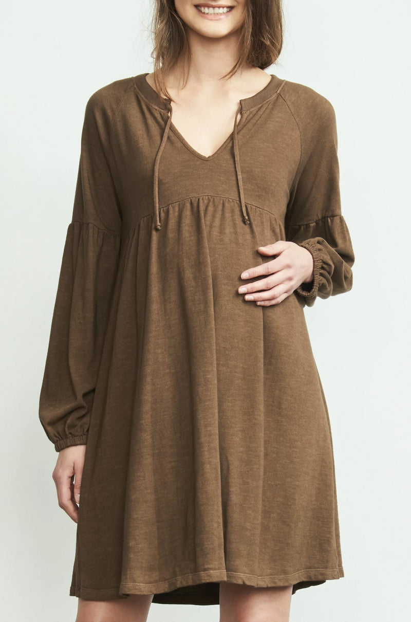 Drawstring Neck Dress