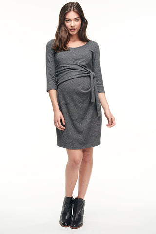 Balloon Sleeve Maternity Dress