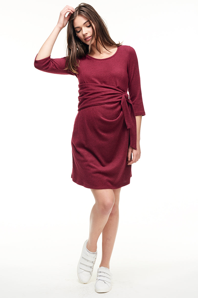 Faux Wrap Maternity Dress