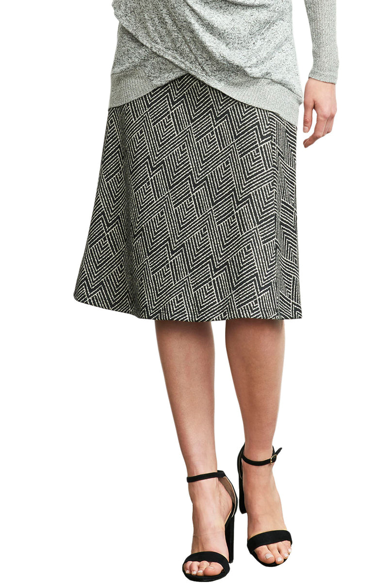 Ivory Diamond A-Line Skirt