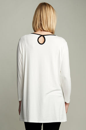 Nursing Piping Detail Top