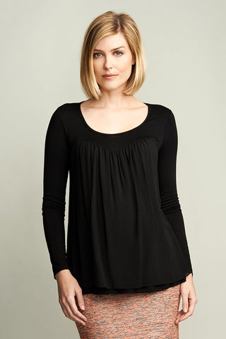 Front Pleats Top