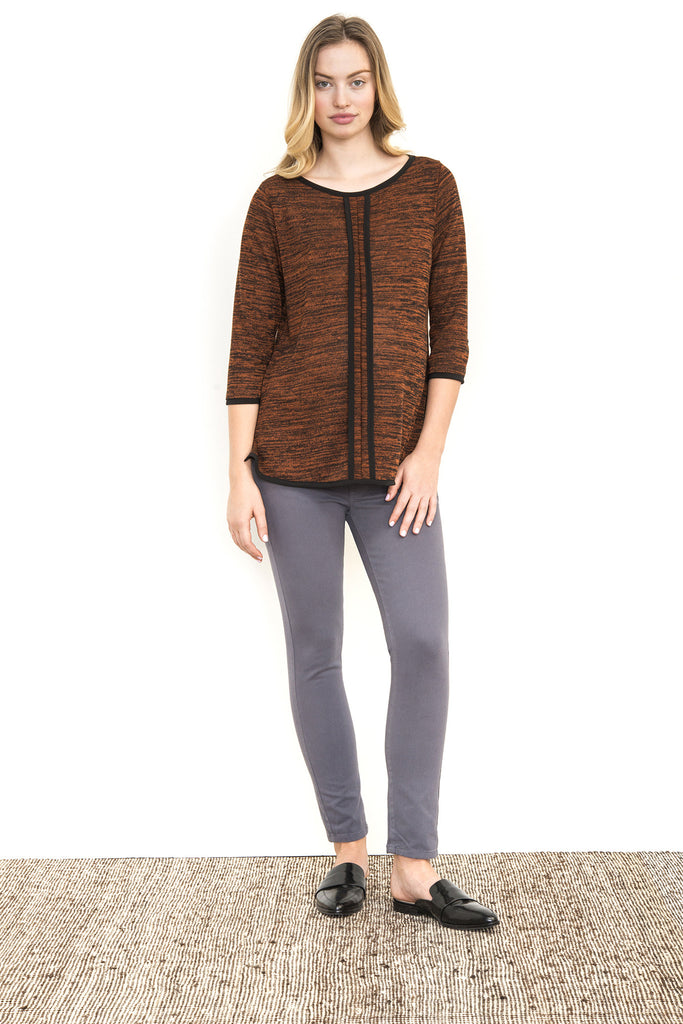 OPEN NECK FRENCH SEAM TOP