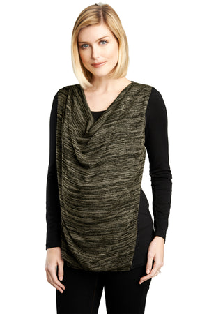 Nursing Draped Cowl Top