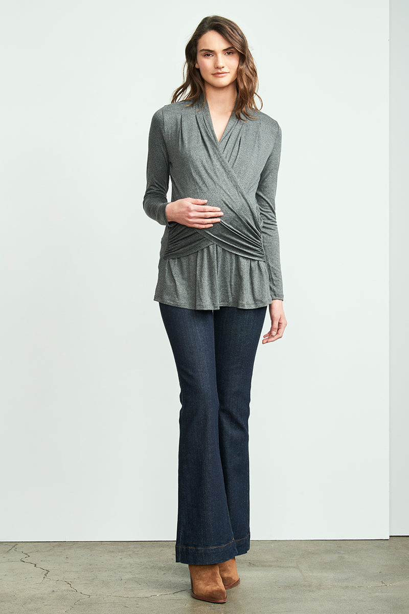 Cross Drape Nursing Top