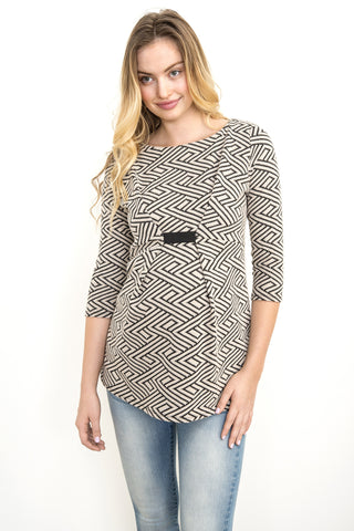 Bishop Sleeve Maternity Blouse