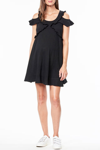 Scoop Neck Tie Front Dress
